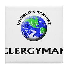 World's Sexiest Clergyman Tile Coaster