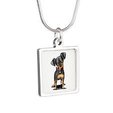 Min Pin Silver Square Necklace