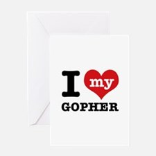 I love my Gopher Greeting Card