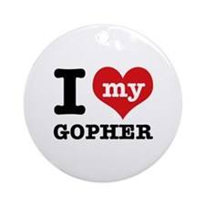 I love my Gopher Ornament (Round)