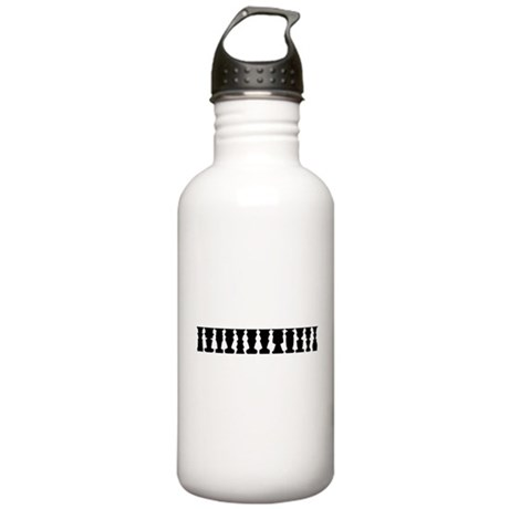 Optical Illusion of Standing People Water Bottle