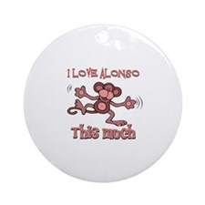 I love Alonso this much Ornament (Round)