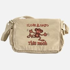 I love Alonzoa this much Messenger Bag