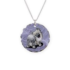 Pomeranian Moon Necklace