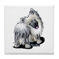 Pomeranian Moon Tile Coaster