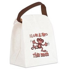I love Alvaro this much Canvas Lunch Bag