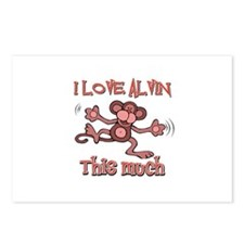 I love Alvin this much Postcards (Package of 8)