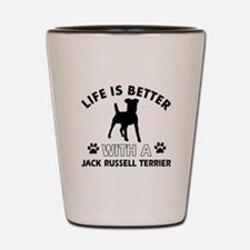 Funny Jack Russell Terrier lover designs Shot Glas