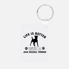 Funny Jack Russell Terrier lover designs Keychains