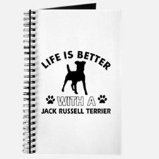 Funny Jack Russell Terrier lover designs Journal