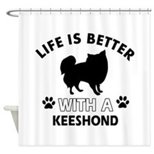 Funny Keeshond lover designs Shower Curtain