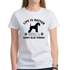 Funny Kerry Blue Terrier lover designs Tee