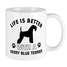Funny Kerry Blue Terrier lover designs Small Mugs
