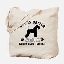 Funny Kerry Blue Terrier lover designs Tote Bag