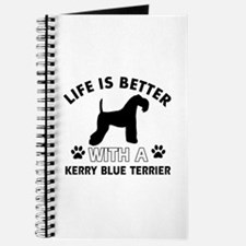 Funny Kerry Blue Terrier lover designs Journal