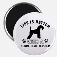 Funny Kerry Blue Terrier lover designs Magnet