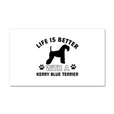 Funny Kerry Blue Terrier lover designs Car Magnet