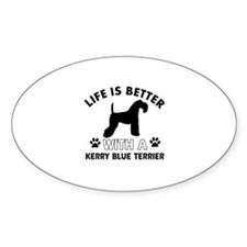 Funny Kerry Blue Terrier lover designs Decal
