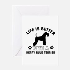 Funny Kerry Blue Terrier lover designs Greeting Ca