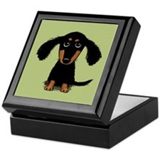 Cute Dachshund Keepsake Box