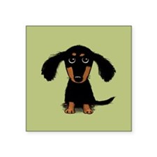 "Cute Dachshund Square Sticker 3"" x 3"""