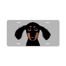 Cute Dachshund Aluminum License Plate