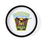 Helena Police Wall Clock