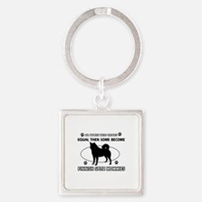 Finnish Spitz mommies are better Square Keychain