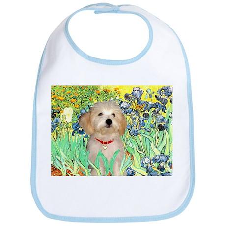 Irises & Havanese Puppy Bib