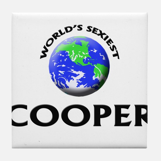 World's Sexiest Cooper Tile Coaster
