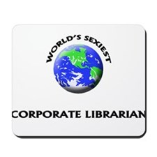 World's Sexiest Corporate Librarian Mousepad