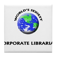 World's Sexiest Corporate Librarian Tile Coaster