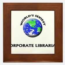 World's Sexiest Corporate Librarian Framed Tile