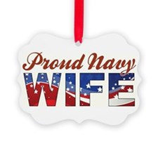 PROUD NAVY WIFE Ornament