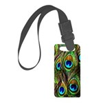 Peacock Feathers Invasion Small Luggage Tag