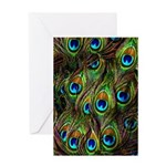 Peacock Feathers Invasion Greeting Card