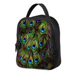 Peacock Feathers Invasion Neoprene Lunch Bag