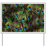 Peacock Feathers Invasion Yard Sign