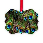 Peacock Feathers Invasion Picture Ornament