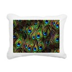 Peacock Feathers Invasio Rectangular Canvas Pillow