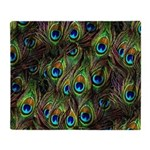 Peacock Feathers Invasion Throw Blanket