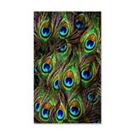 Peacock Feathers Invasion 35x21 Wall Decal