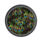 Peacock Feathers Invasion Wall Clock