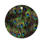 Peacock Feathers Invasion Ornament (Round)