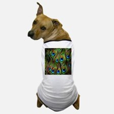 Peacock Feathers Invasion Dog T-Shirt