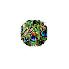 Peacock Feathers Invasion Mini Button