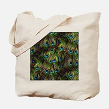 Peacock Feathers Invasion Tote Bag