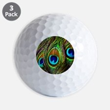 Peacock Feathers Invasion Golf Ball