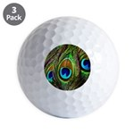 Peacock Feathers Invasion Golf Balls