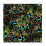 Peacock Feathers Invasion Tile Coaster